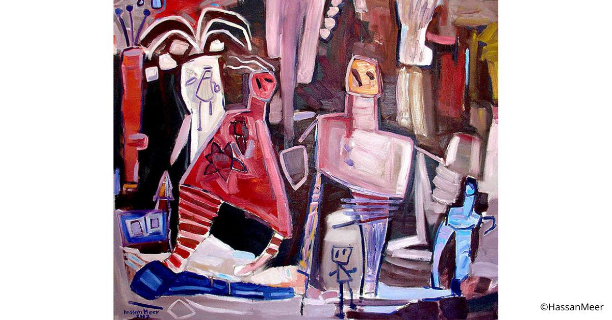 ''Sotto la palma'' | 2007, olio su tela, 150 x 125 cm
