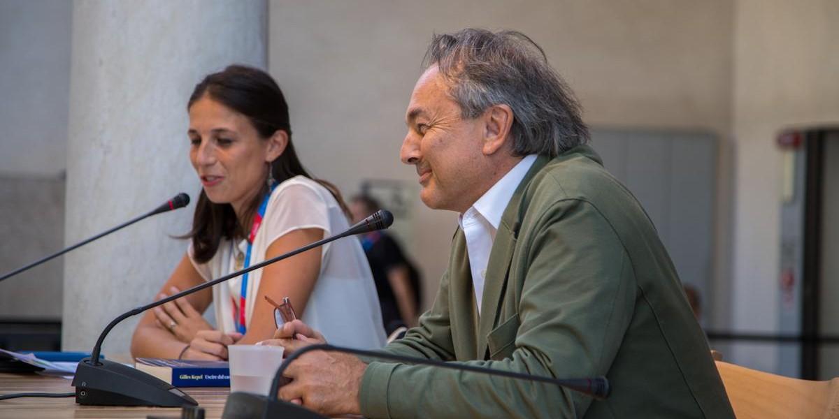 Gilles Kepel e Azzurra Meringolo (fonte foto www.festivaletteratura.it)