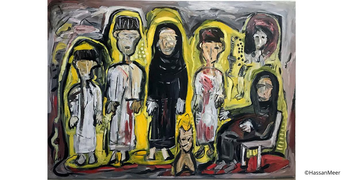 ''Omani Family II'' | 2016, olio su tela, 200x140 cm