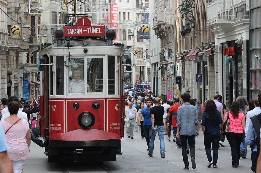 Istiklal Caddesi, Viale dell' Indipendenza - Istanbul