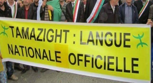 Manifestazione per il riconoscimento della lingua berbera - Algeri 2017 (foto algeriepatriotique)