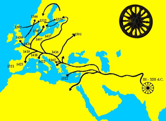 L'esodo della popolazione Romanì e l'arrivo in Europa