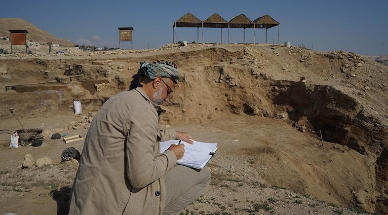 Il Prof. Dr. Nigro a Gerico - Palestina