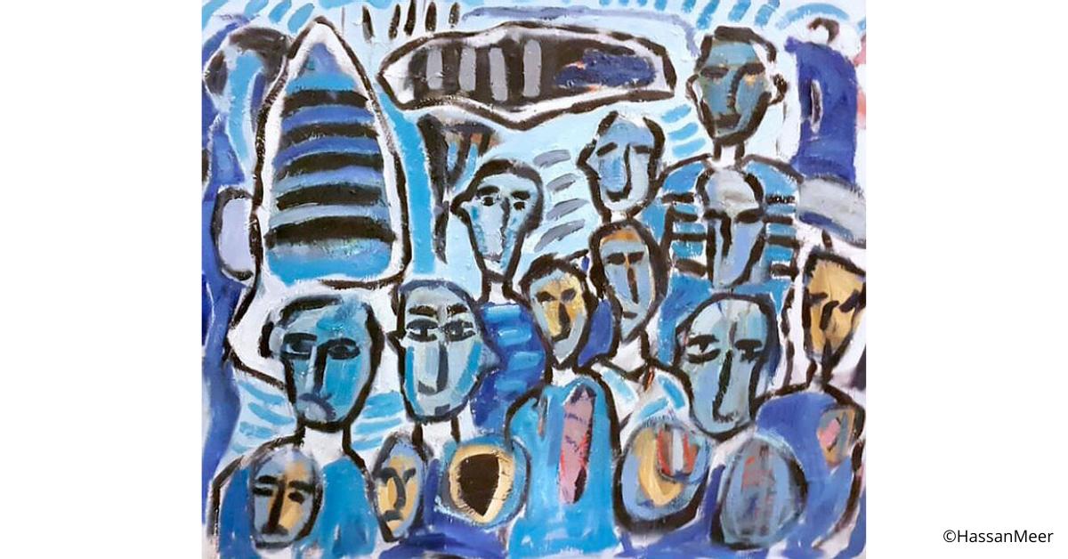 ''Volti'' | 2011, olio su tela, 110 x 90 cm