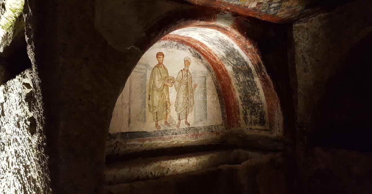 Affresco di San Pietro e di San Gennaro