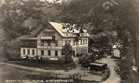 Böhmischen Mühle vor 100 Jahren