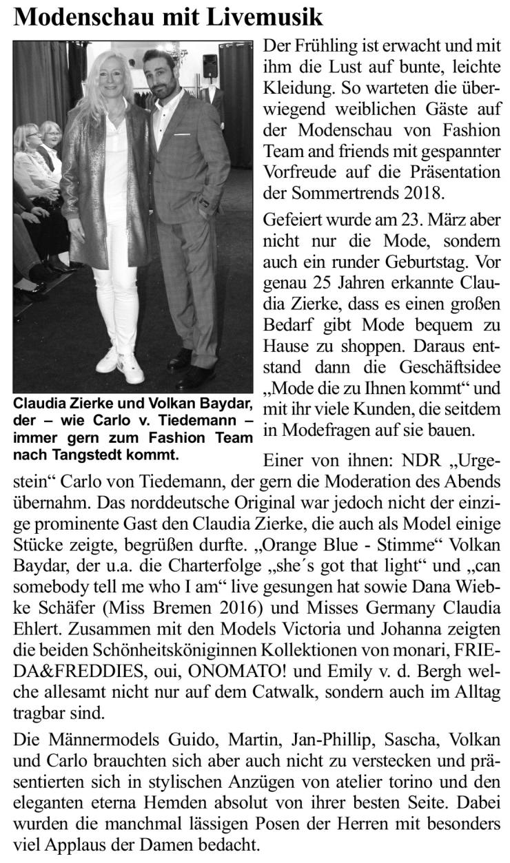 Artikel Hamburger Abendblatt, Artikel 3,  2018