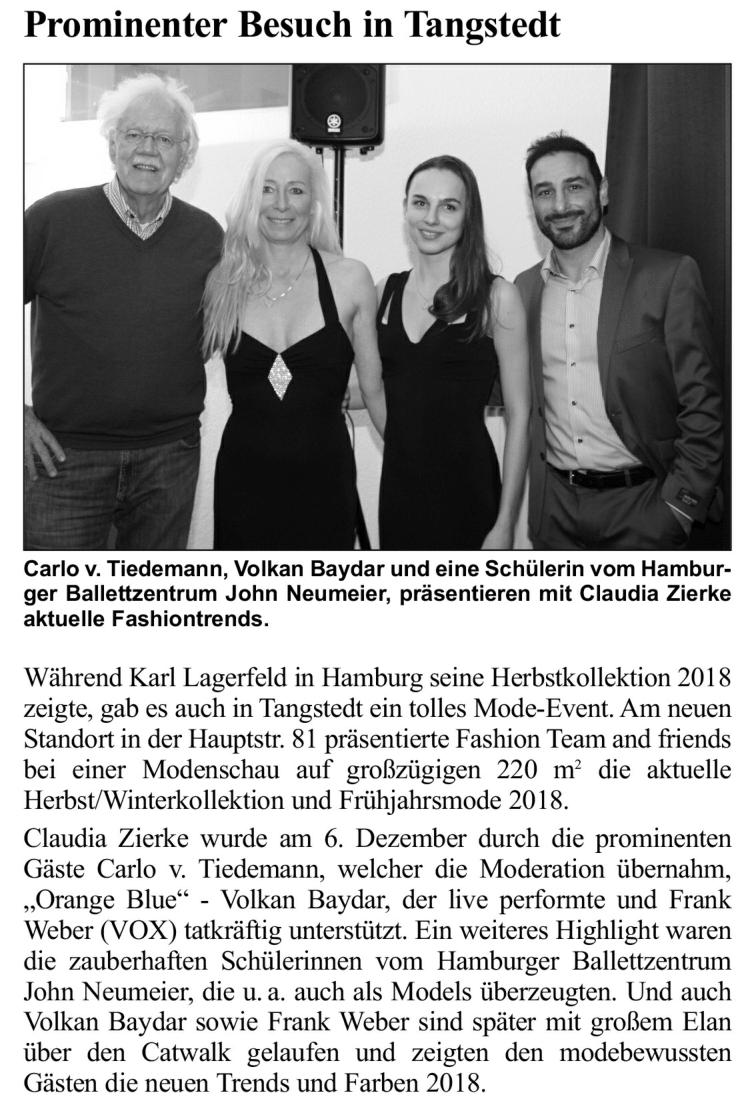 Artikel Hamburger Abendblatt, Artikel 12,  2017