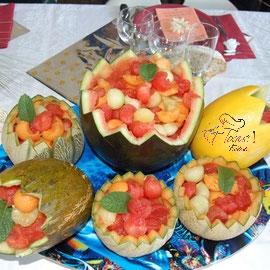 Et toque! traiteur, buffet pastèque et melons