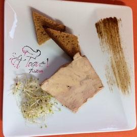 Et toque! traiteur, assiette de foie gras de canard IGP