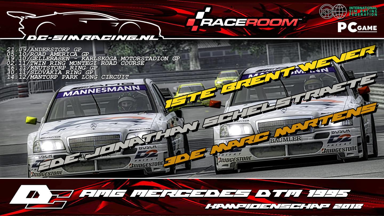 DC-AMG MERCEDES DTM 1995 KAMPIOENSCHAP 2018 - 1. Brent Wever 2. Jonathan Schelstraete 3. Marc Martens