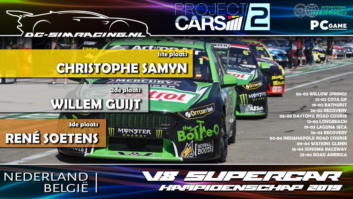 DC-V8 SUPERCAR KAMPIOENSCHAP 2019 - 1. Christophe Samun 2. Willem Guijt 3. Rene Soetens
