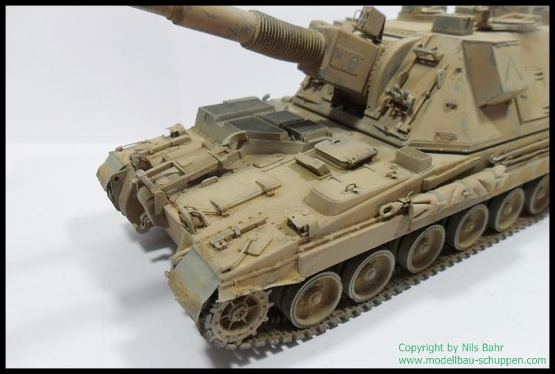 AS90 Braveheart 155mm Self-Propelled Howitzer Maßstab 1:35