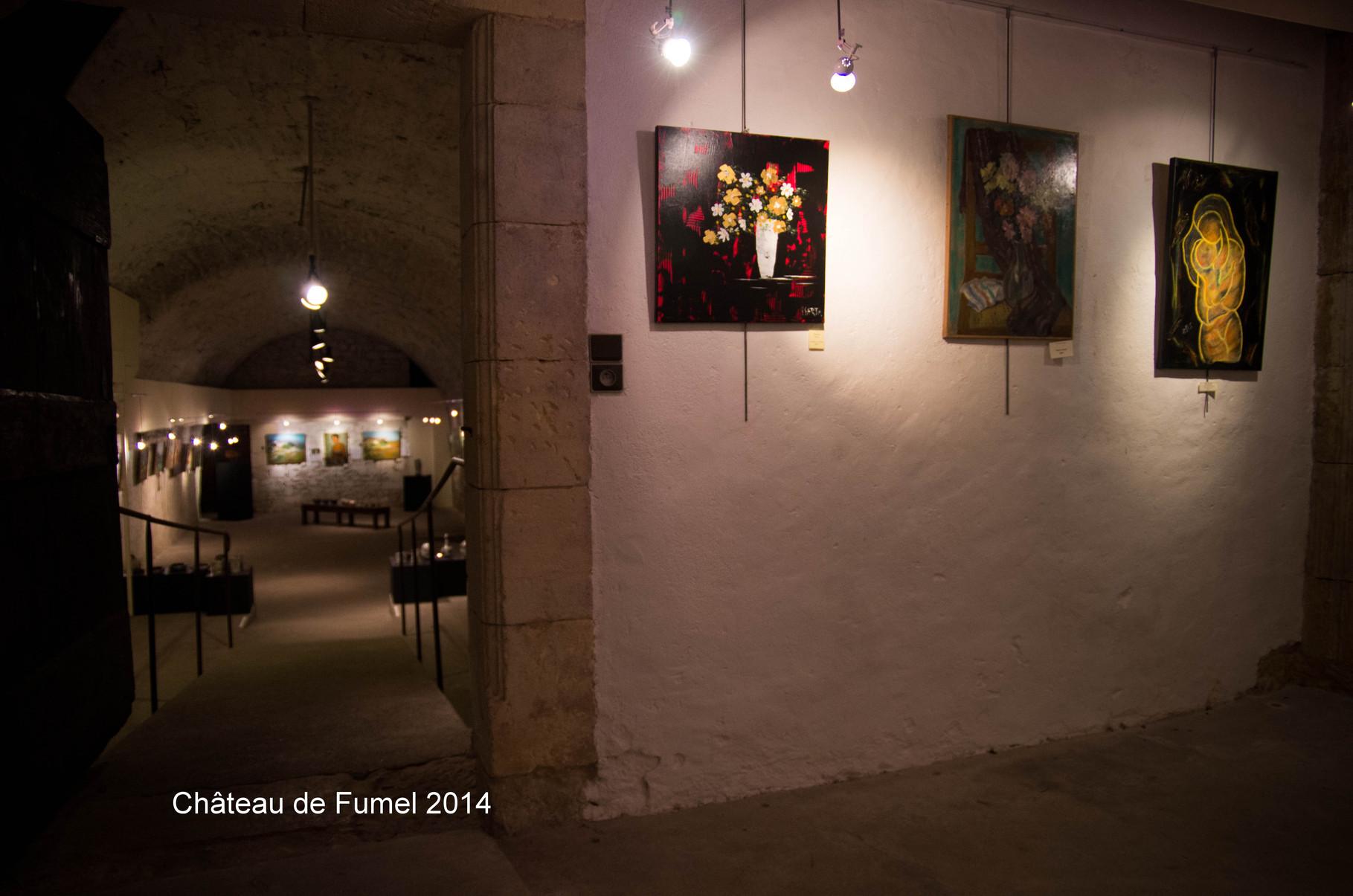 Au fond à droite : Câlin nocturne - vue sur la dernière salle (photo Vincent Neuville)