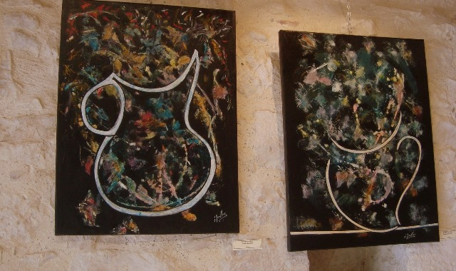 Bouquet et cruche artifice