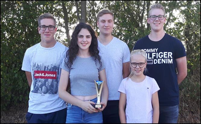 Die Mannschaft setzt sich aus folgenden Nachwuchsschützen zusammen: v.li. Simeon Manns, Penelope Hack, Jonas Ruppel, Marie Görlich und Carl-Philip Kress