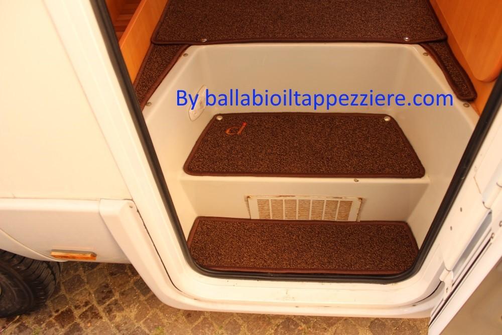 """tappeto camper entrata cellula """"CI""""  ballabioiltappezziere.com"""