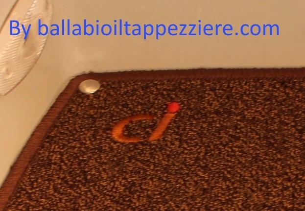 """tappeto camper gradino """"CI""""  ballabioiltappezziere.com"""