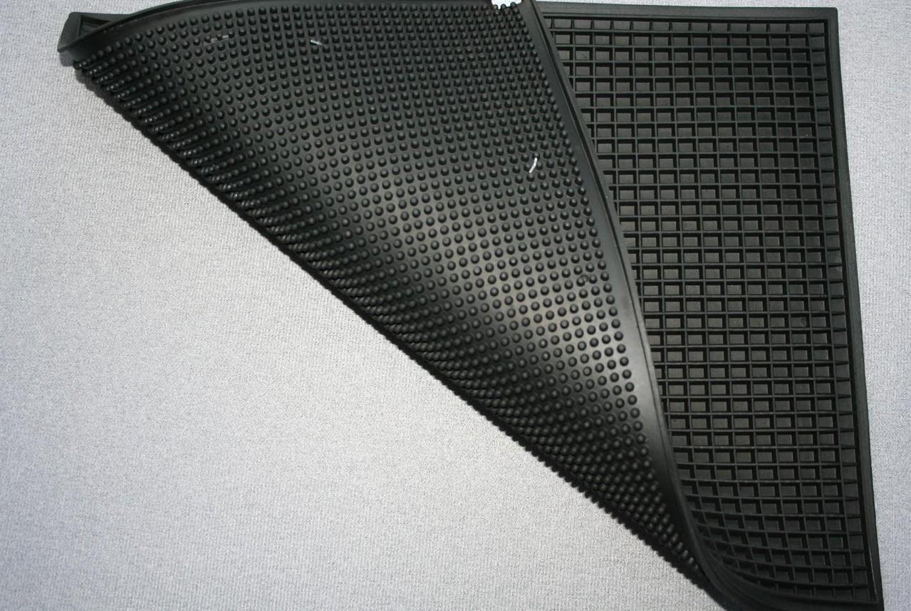 Tappeto in gomma rettangolare double-face
