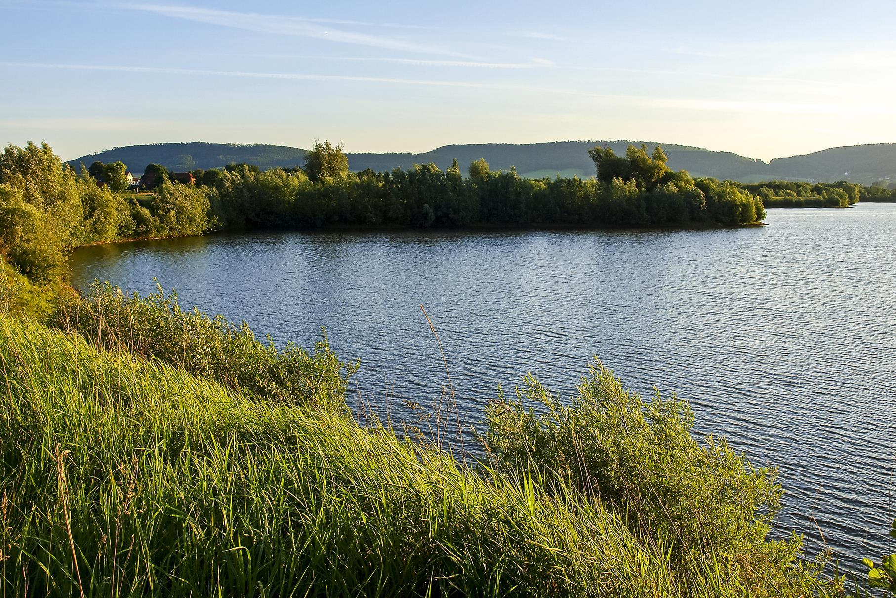 Sonnenaufgang am westlichen Teich.