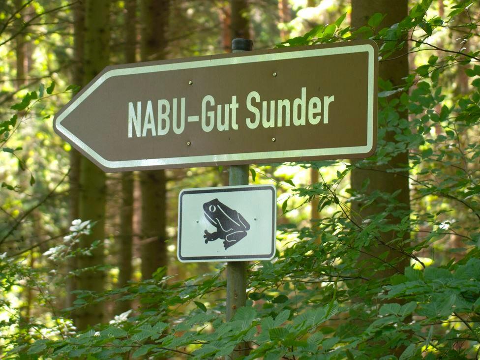 Wegweiser zu Gut Sunder. - Foto: Kathy Büscher