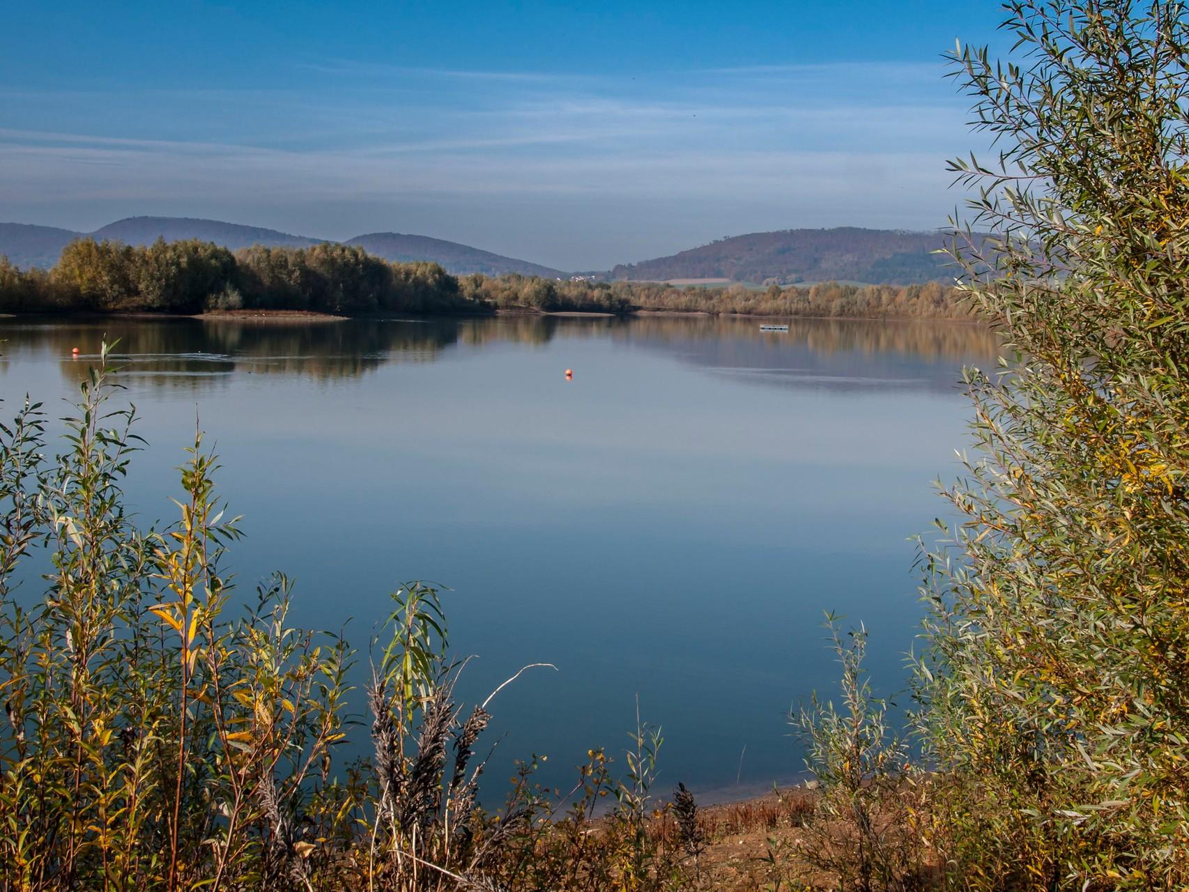 Blick auf die Wasserflächen. - Foto: Kathy Büscher