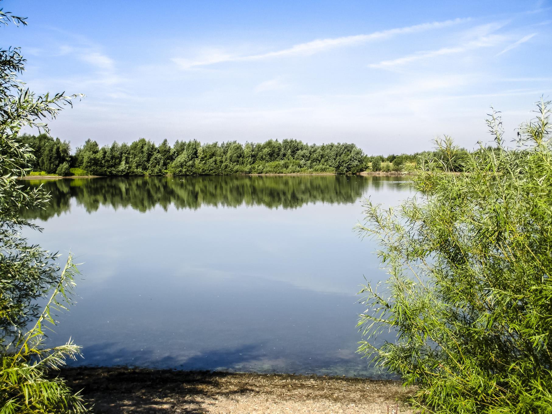 Blick auf den mittleren Teich.