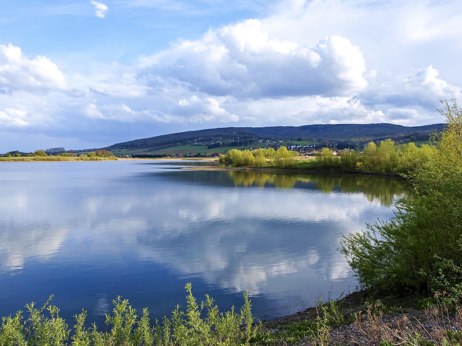 Wolkenspiel am mittleren Teich.