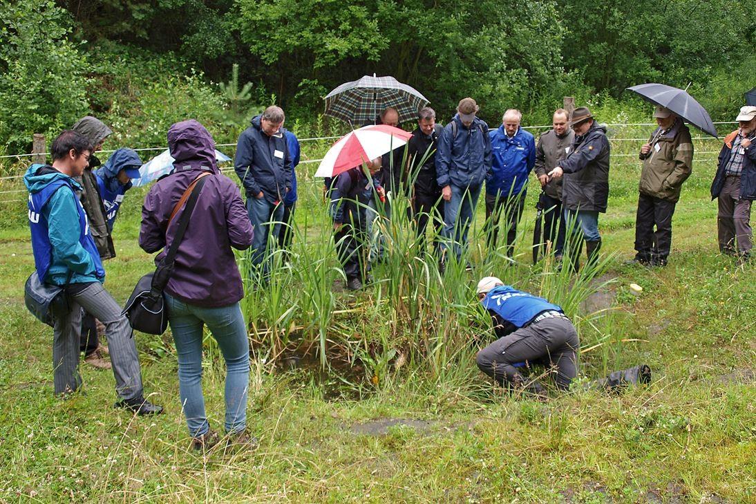 Bei der Exkursion nach der Eröffnung des Projektes. - Foto: Kathy Büscher