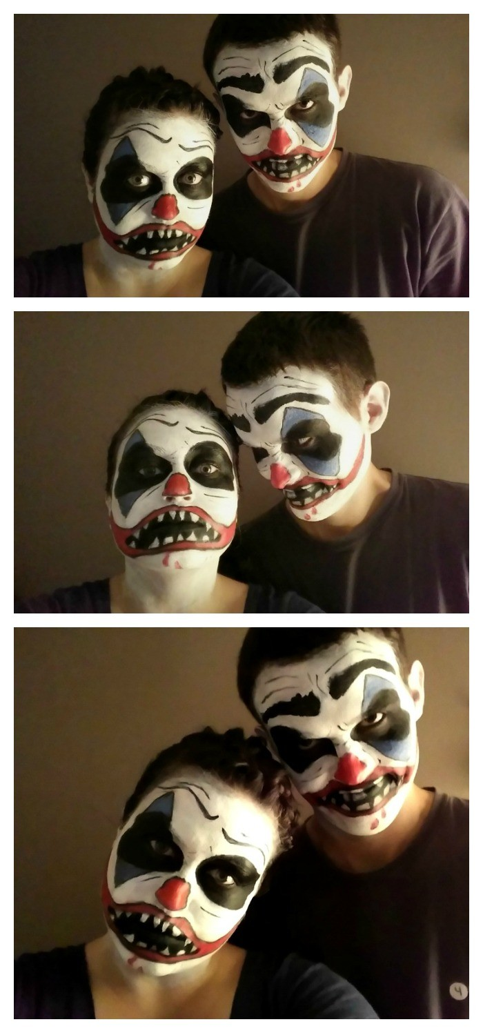 maquillage halloween en couple
