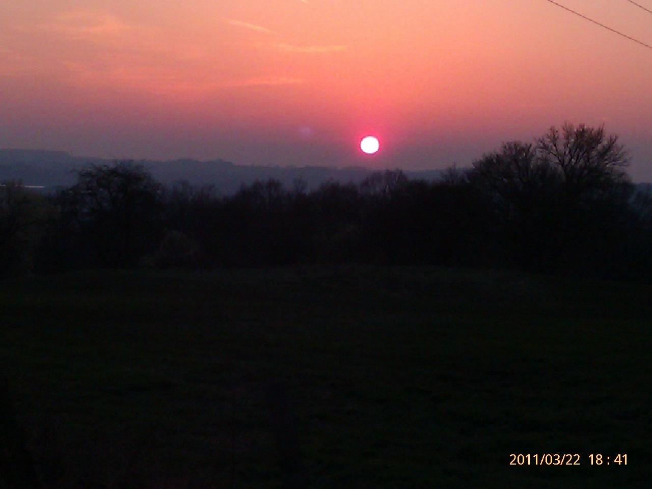Sonnenuntergang über Aachen