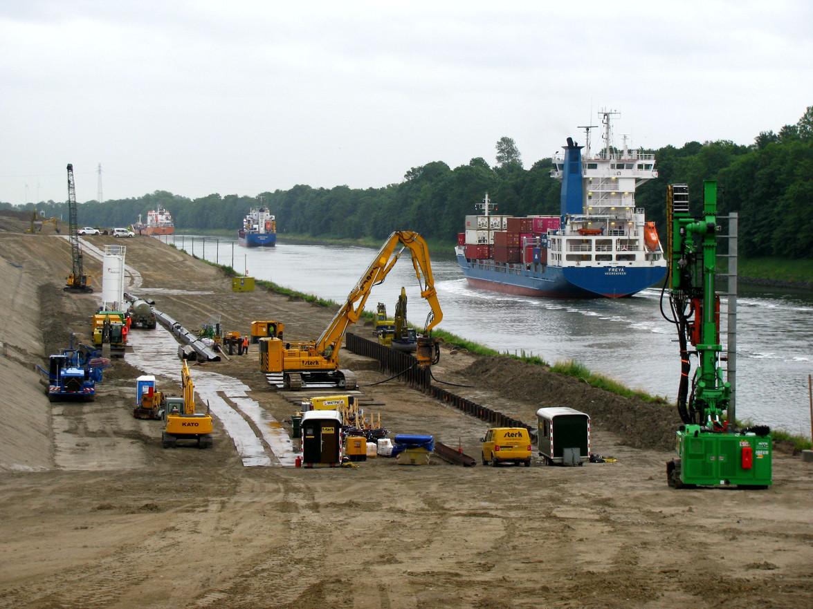 Nord-Ostsee-Kanal, landseitig - Bodenmanagement, örtliche Bauüberwachung