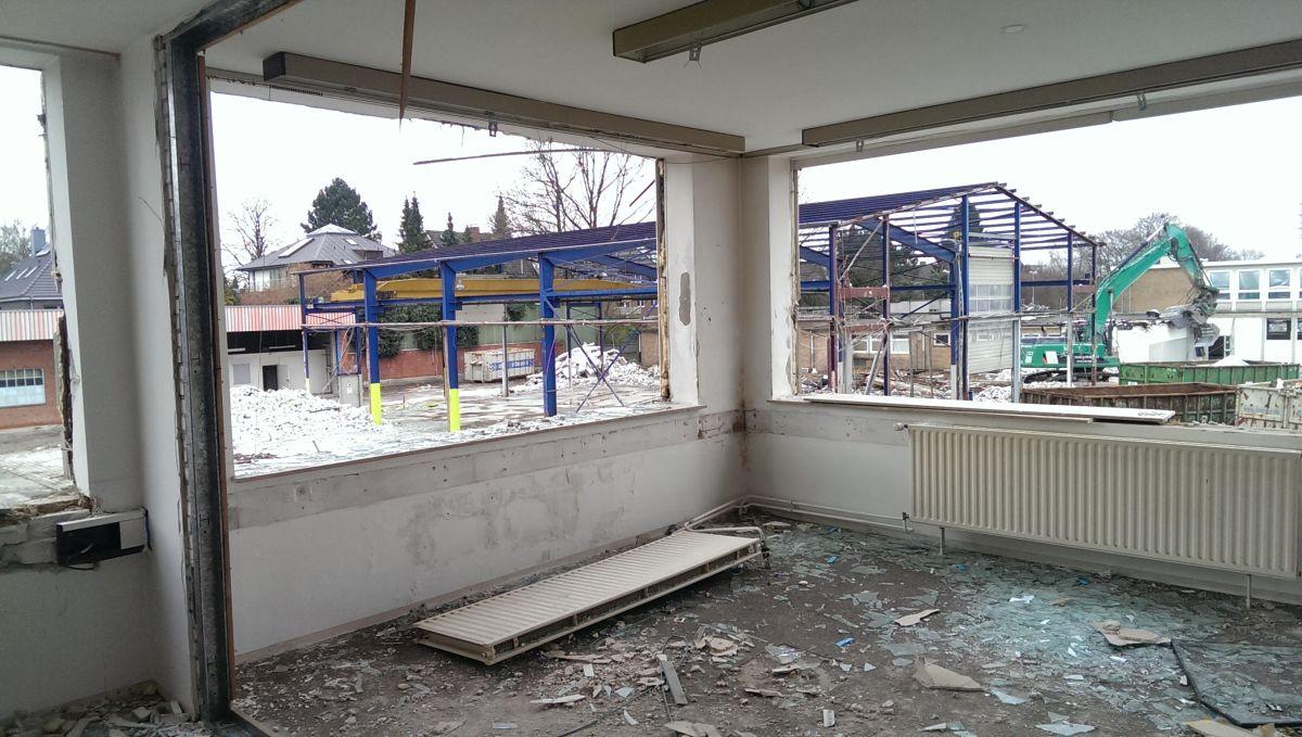 Ehemaliges Betriebsgelände der Stadtreinigung am Offakamp - Abbruch