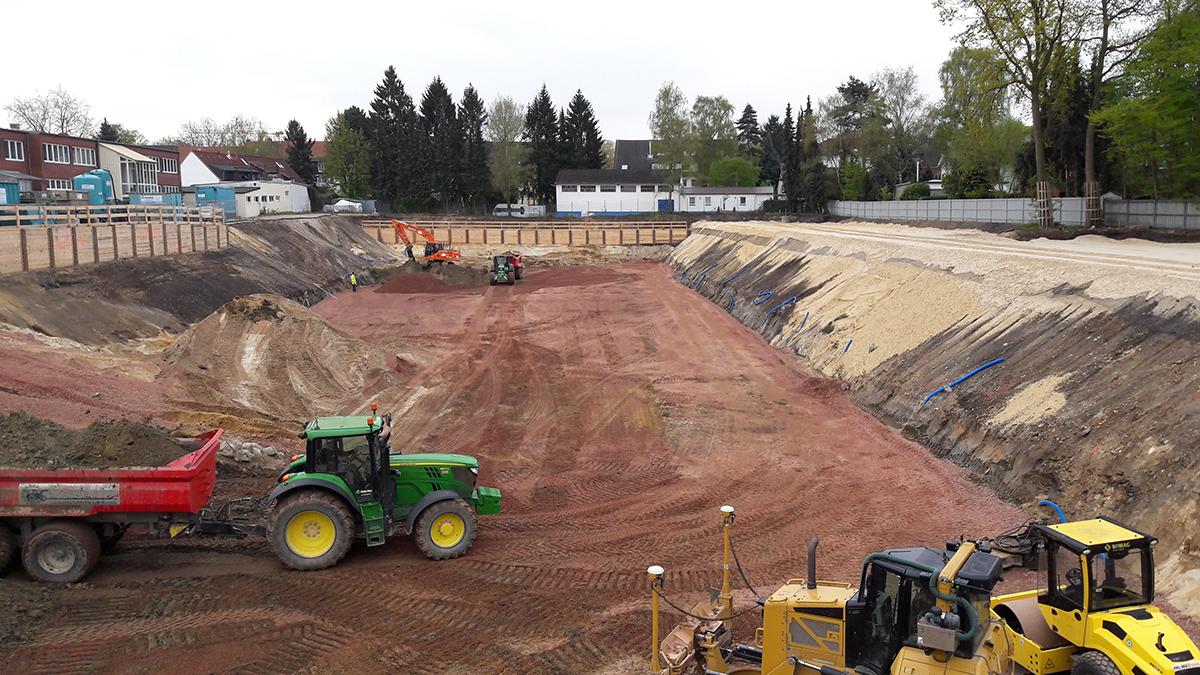 Meistermeile Offakamp – Baugrunderkundung, Baugrubenplanung, Fachbauleitung
