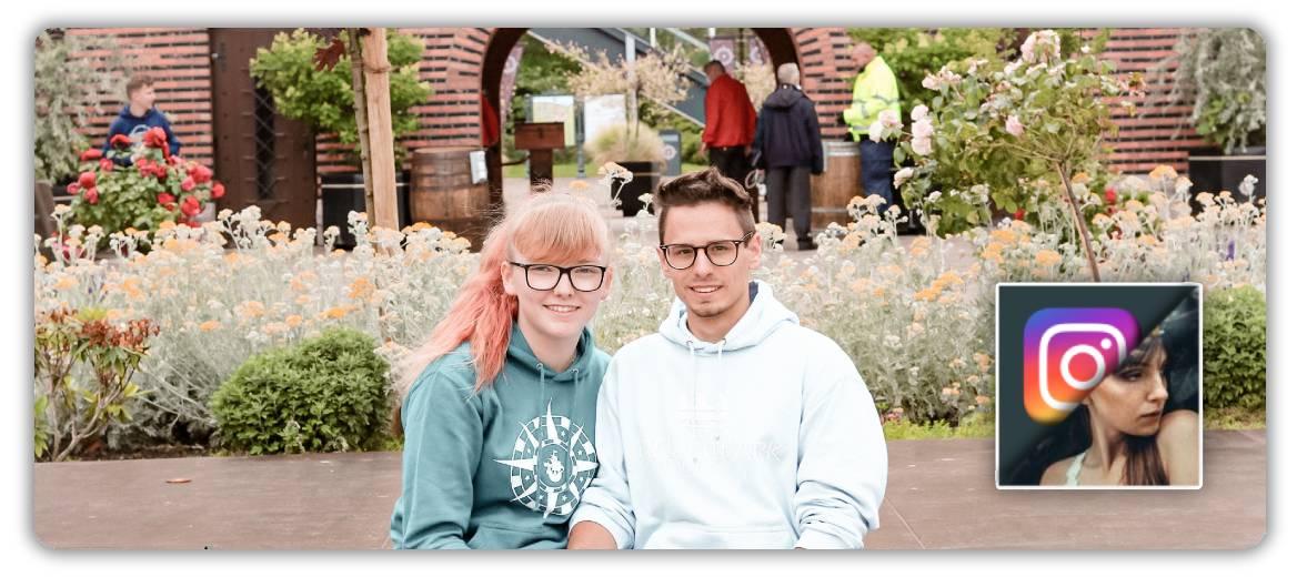 Freizeitpark Mädchen Plauderei und der Hansa-Park