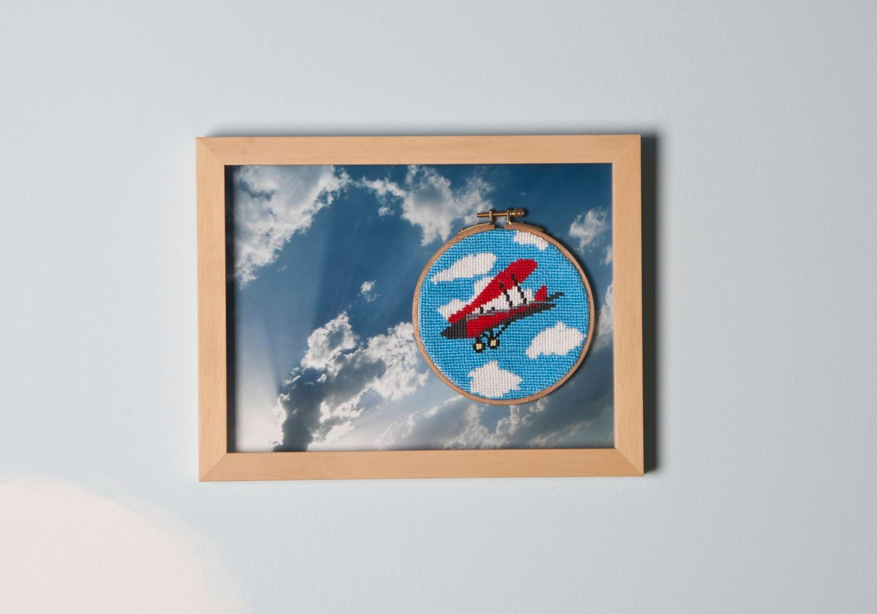 ''Come fly with me'' 2011-Cross stitch on photography/25 x 33 cm