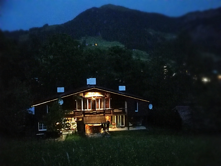 Lodge am Abend