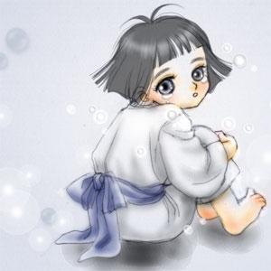 泣く児(挿絵)