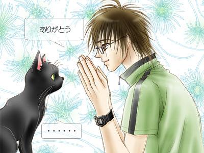 猫と少年(挿絵)