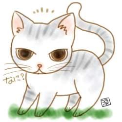 らくがき:通りすがりの猫