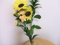 池袋整体ゆっくり4周年お祝いで頂いたお花の画像
