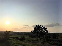 自然治癒力を感じる夕日の画像