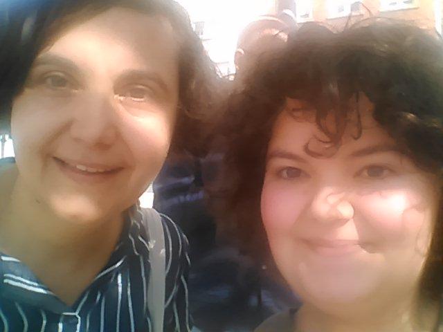 Selfie amb l'escriptora Marina Espasa, una antiga companya Quellegista que em va fer molta il•lusió retrobar!