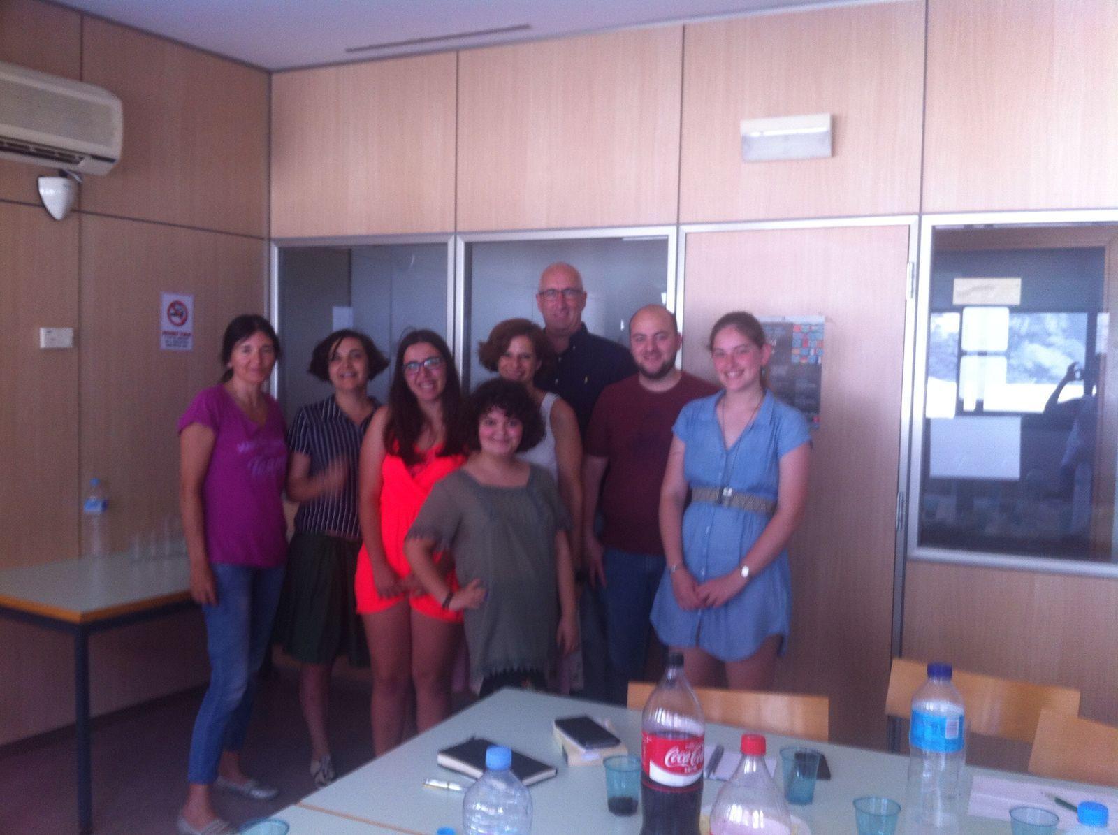 Foto amb l'equip del projecte