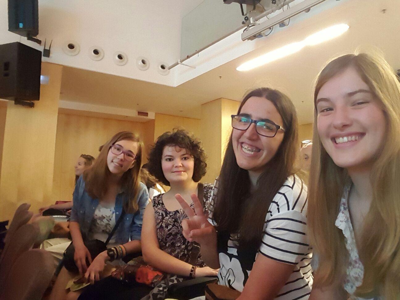 D'esquerra a dreta, Alona, Mixa, Irene i Mauqui