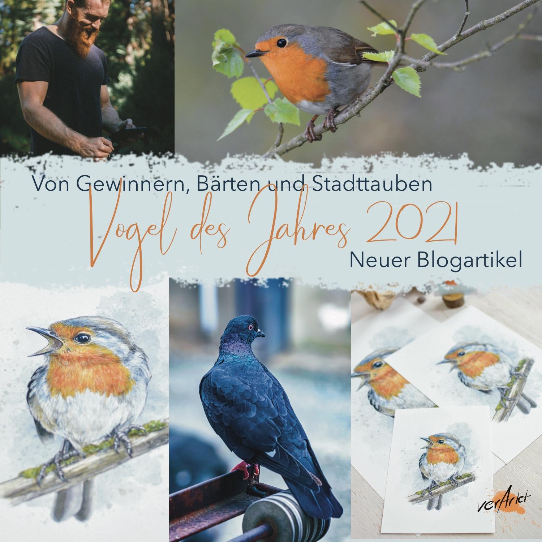 Das Rotkehlchen - Vogel des Jahres 2021 - Kunstdrucke Sonderedition