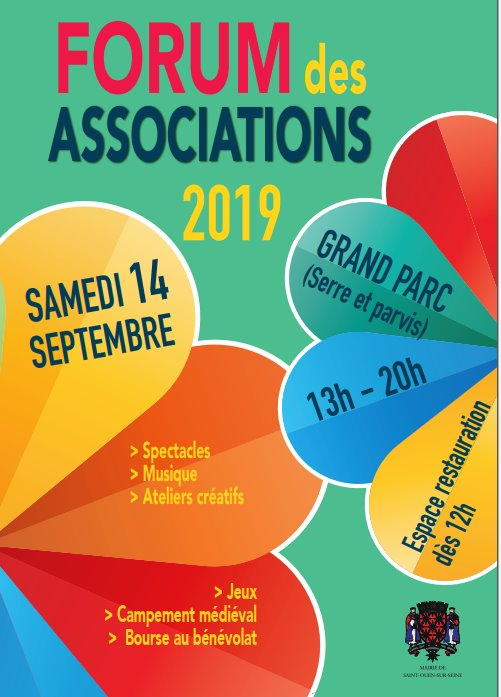 Affiche du Forum des Associations 2019