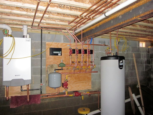 5 zone heating system plus water tank