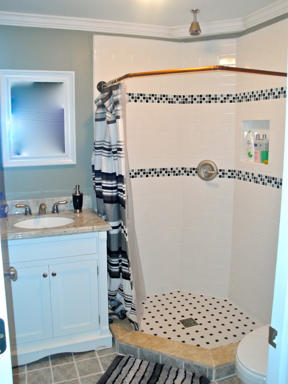 New construction bathroom