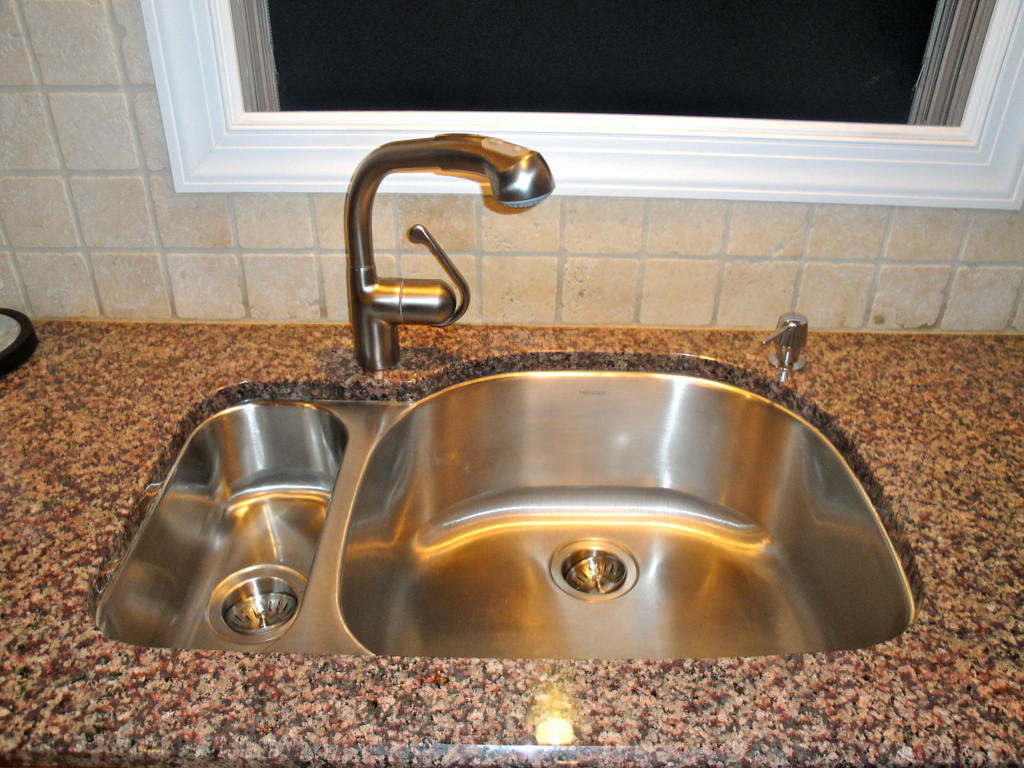 Stainless steel sink/faucet installation
